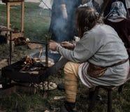 Kampf 1066 von Hastings Stockfotos