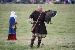 Kampf 1066 von Hastings Stockbild