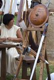 Kampf von Pavia: Waffen und Leben im Schlachtfeld Lizenzfreie Stockbilder