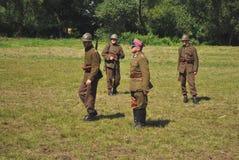 Kampf von Warschau Lizenzfreies Stockbild