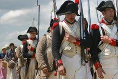 Kampf von Waterloo Stockbild