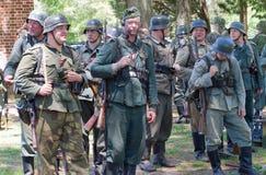 Kampf-Wiederinkraftsetzung des Zweiten Weltkrieges Stockbild