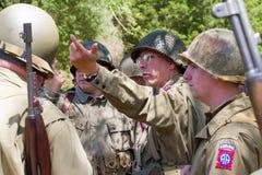 Kampf-Wiederinkraftsetzung des Zweiten Weltkrieges Stockbilder