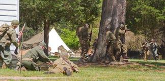 Kampf-Wiederinkraftsetzung des Zweiten Weltkrieges Lizenzfreies Stockbild