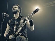 Kampfar metalu ciężki czarny zespół żywy w koncercie 2016 Obrazy Royalty Free