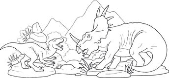 Kampfdinosaurier Stockfotos
