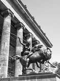 Kampfende Amazone. Statue of `Kampfende Amazone` `Fighting Amazonian Woman` by August Kiss in front of the Altes Museum in Berlin, Germany Royalty Free Stock Photography