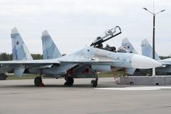 Kampfflugzeug bereitet vor sich sich zu entfernen Lizenzfreie Stockfotografie