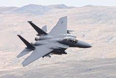 Kampfflugzeug der US-Luftwaffe F15 Stockfotos