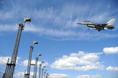 Kampfflugzeug F-16flugzeug Lizenzfreie Stockfotografie