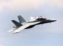 Kampfflugzeug F-18 Stockfoto