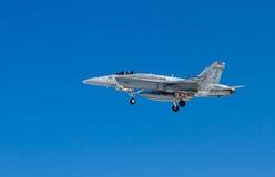 Kampfflugzeug F-18 Lizenzfreie Stockfotos