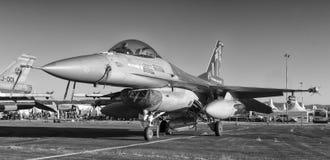 Kampfflugzeug F 16 Stockfotografie