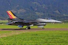Kampfflugzeug F16 der belgischen Luftwaffe Stockfotografie