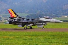 Kampfflugzeug F16 der belgischen Luftwaffe Lizenzfreies Stockbild