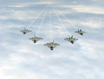 Kampfflugzeug im Himmel Stockbilder