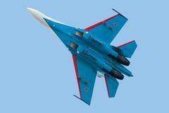 Kampfflugzeug Su-27 Stockfotografie