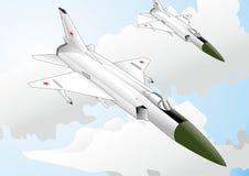 Kampfflugzeugdesign der bauchigen Weinflasche SU-15 Lizenzfreies Stockfoto