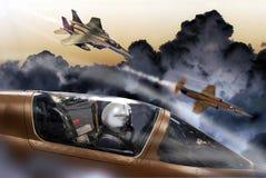 Kampfflugzeuge Stockbild