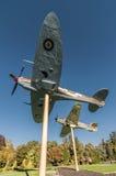 Kampfflugzeuge auf einem Stock Stockbild