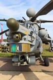 Kampfhubschrauber Mi-28 mit den geöffneten Armen stockfotografie
