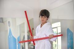 Kampfkünste für Kinder Stockbild