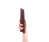 Kampfkünste nunchaku Waffe in der Hand Stockfotos