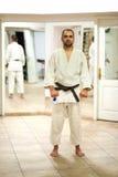 Kampfkunstausbilder stockfotografie