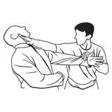 Kampfkunstillustration stock abbildung