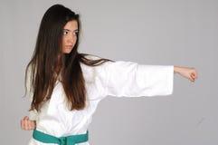 Kampfkunstmädchen Stockbilder