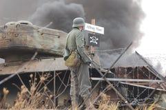 Kampfzone. Historical military reenactmant of World War 2 Stock Photo
