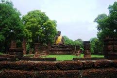 Kamphaeng historiska Phet parkerar Aranyik område, Buddha av Thailand Arkivfoto