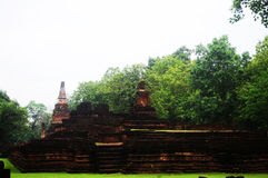 Kamphaeng Phet Aranyik Dziejowy Parkowy teren, Buddha Thailand Zdjęcia Royalty Free