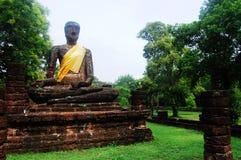 Kamphaeng Phet Aranyik Dziejowy Parkowy teren, Buddha Thailand Obraz Stock