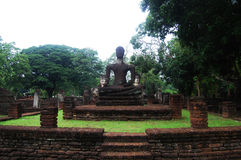 Kamphaeng Phet Historical Park Aranyik Area,Buddha of thailand Royalty Free Stock Images