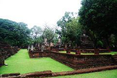 Kamphaeng Phet Historical Park Aranyik Area,Buddha of thailand Stock Photos