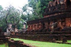 Kamphaeng Phet Historical Park Aranyik Area,Buddha of thailand Stock Image