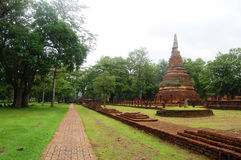 Kamphaeng Phet Historical Park Aranyik Area,Buddha of thailand Stock Photo