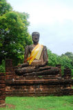 Kamphaeng Phet Historical Park Aranyik Area,Buddha of thailand Royalty Free Stock Photography