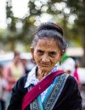 KAMPHAENGPHET, THAILAND - 01 Januari, 2014 Al etnische groep in zeer slecht Thailand maar heeft mooie cultuur, Deze oude Hmong-st Stock Afbeelding