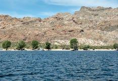 Kampieren an der Telefon-Bucht auf See Mohave lizenzfreie stockfotografie