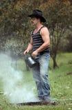 Kampieren im Busch stockfotografie