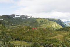 Kampieren im Freien in Norwegen Lizenzfreies Stockfoto