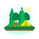 kampieren Rest im Wald lizenzfreie abbildung