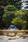 Kampierende Freiheit, nahe Ostküste Gisborne, Nordinsel, Neuseeland Lizenzfreie Stockfotos
