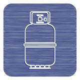 Kampierende Gasflaschenikone Flache Ikone lokalisiert Lizenzfreies Stockbild