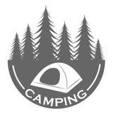 Kampierende Logodesignschablone Stockbilder