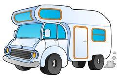 Kampierender Packwagen der Karikatur Lizenzfreie Stockfotografie