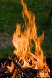 Kampierendes Feuer Stockfoto