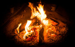 Kampierendes Feuer Stockfotos